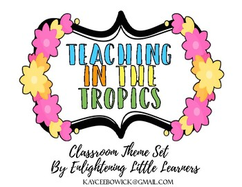 Tropical Classroom Theme Pack