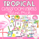 Tropical Classroom Theme Pack - Editable Name Tags, Labels and Posters