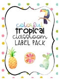 Tropical Classroom Themed Label Pack