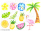 HTP Clip Art Tropical Watercolor {The Happy Teacher's Palette}