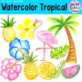 Tropical Clip Art Watercolor {The Happy Teacher's Palette