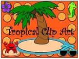 Tropical Clip Art and Name Tags