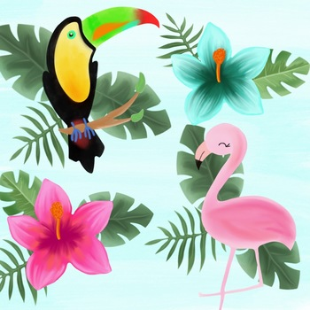 Tropical Clipart by Taracotta Sunrise