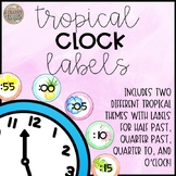 Tropical Clock Labels