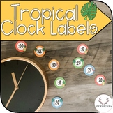 Tropical Clock Labels (Pineapple/Flamingo)