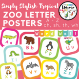 Tropical Color ABC's Zoo Friends Alphabet Poster and Word Wall Letters