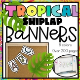 Tropical Color Banners- EVERY Letter-