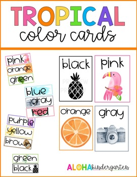 Tropical Color Cards: 2 Sizes & Full Sized Posters!