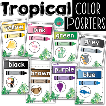 Tropical  Color Posters