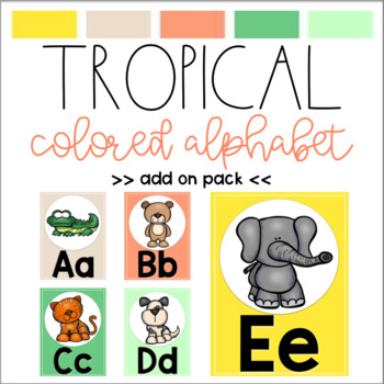 Tropical Colored Alphabet