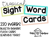 Tropical Colored Sight Word Cards | Editable