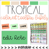 Tropical Colored Toolbox Labels (editable)