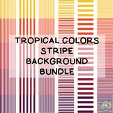 Tropical Colors Stripe Background Bundle