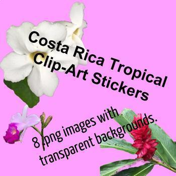Tropical Costa Rica Sticker Clip-Art