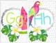 Tropical Crush Decor Collection: Alphabet Posters
