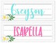 Tropical Crush Decor Collection: NamePlates