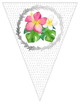 Tropical Crush Decor Collection: Pennant Bunting Banner