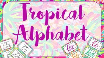 Tropical Cursive Alphabet