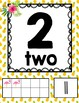 Tropical Daze (pineapple & flamingo) 0-20 Numbers Posters