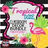 Tropical Daze (pineapple & flamingo) Classroom Decor Bundle