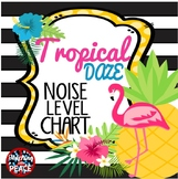 Tropical Daze (pineapple & flamingo) Classroom Noise Level Chart
