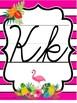 Tropical Daze (pineapple & flamingo) Cursive ABC Posters *D'Nealian & ZB*