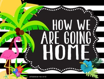 Tropical Daze (pineapple & flamingo) Going Home Display System *editable*