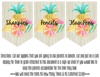 Tropical Decor Classroom Wish-List