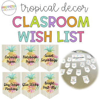 Tropical Decor Classroom Wish-List