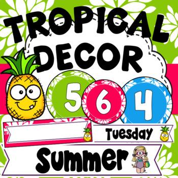 Tropical Decor ~ Editable