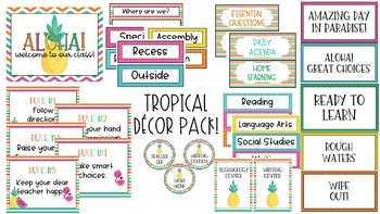 Tropical Decor Pack