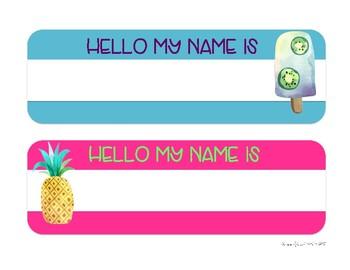 Tropical Desk Name Tags