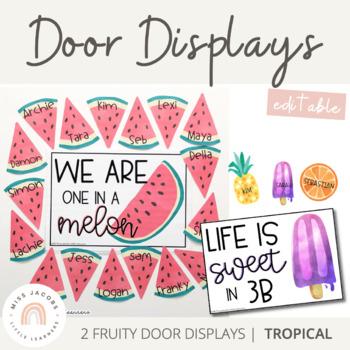 Tropical Door Display   Tropical Fruits