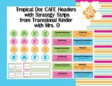Tropical Dot CAFE Headers with Strategy Cards for All 3 Menus