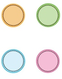 Tropical Dot Circle Frame Clip Art