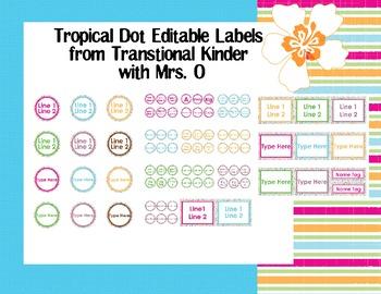Tropical Dot Editable Labels