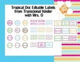 Tropical Dot Editable Labels