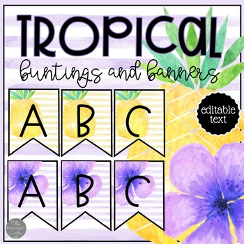 Tropical EDITABLE Banners