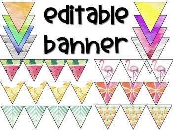 Tropical Editable Banner