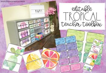 Tropical Editable Teacher Tool box