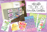 Tropical Editable Teacher Tool box