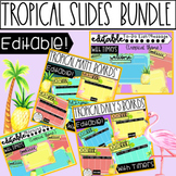 Tropical Editable Templates with Timers - Daily 5, Math Ro