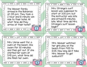 Tropical Elapsed Time Word Problems