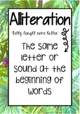 Tropical Figurative Language Posters #ausbts18