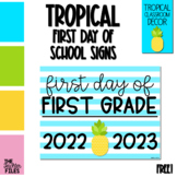 Tropical First Day of School Sign for First (1st) Grade *FREE*