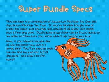 Tropical Fish Aquarium Clipart SUPER BUNDLE  {for personal and commercial use}