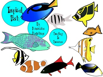 Tropical Fish Colorful Clip Art