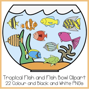 Tropical Fish And Fish Bowl Clipart By High5 Clipart Tpt