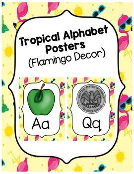 Tropical Flamingo Alphabet Posters