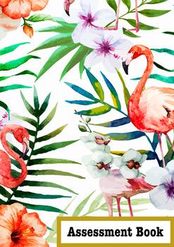 Tropical Flamingo Assessment Book Cover